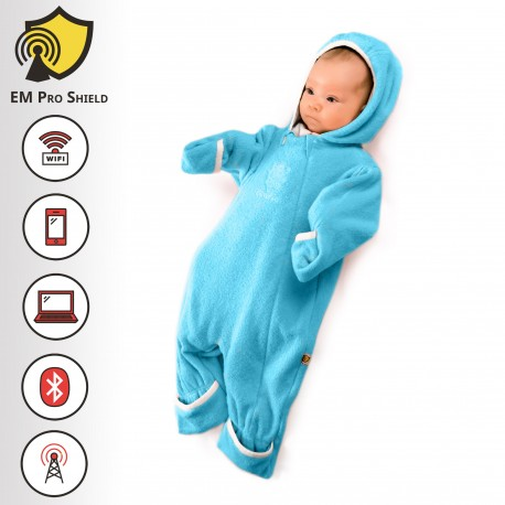 Amadeus Baby Body - Onesies Outdoor – Baby Boy - Blue - Protection against harmful Electromagnetic Waves & Mobile - OnyxPro - EM