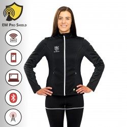 Hedera Multifunctional Jacket Woman Black - Protection against harmful Electromagnetic Waves & mobile radiation - OnyxPro - EM P