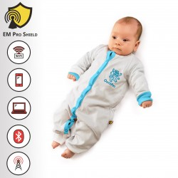 Maximus Baby Body - Onesies Long - Protection against harmful Electromagnetic Waves & Mobile - OnyxPro - EM Pro Shield