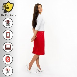 Acacia-Rosea Design Skirt Woman Red - Protection against harmful Electromagnetic Waves & Mobile - OnyxPro - EM Pro Shield